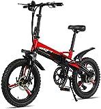 Alta velocidad Bicicletas eléctricas rápidas for adultos Bicicletas de montaña plegable 48V 250W adultos aleación de aluminio de 7 velocidades Bicicletas eléctricas Bicicletas Doble Amortiguador con 2