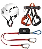 Climbing Technology Classic Kit Ferrata, Casco con Imbrago Set, Multicolore