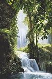 Póster de cascada tropical del paraíso tropical, laminado/encapsulado, cascada de Zaragoza Falls