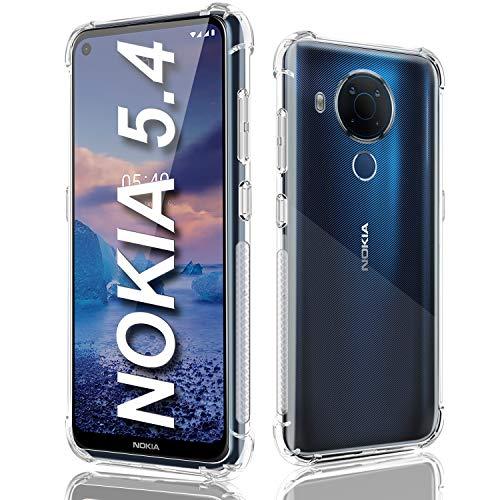 Funda para Nokia 5.4, Nokia 5.4, funda transparente de silicona flexible para Nokia 5.4 6.4 pulgadas