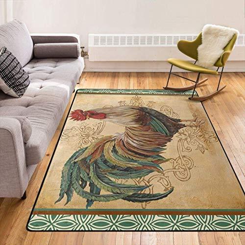 Alfombrillas de Primera Calidad para Puerta, alfombras Gruesas para Interior de Gallo renacentista para Sala de Estar / Dormitorio / Sala de Juegos / Dormitorio / lavandería de 60 x 39 Pulgadas