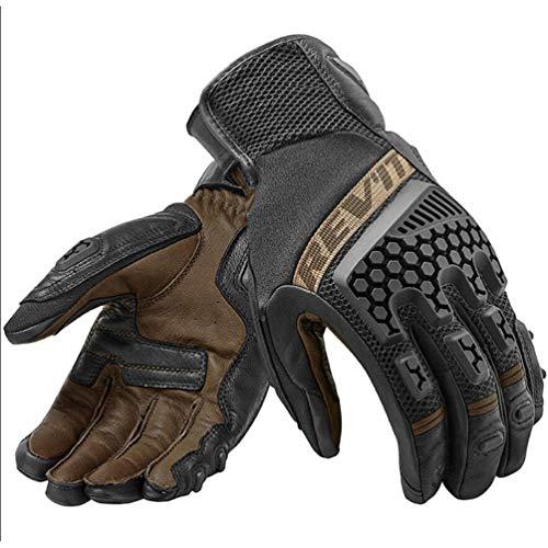 Qianliuk Motorradhandschuhe, Leder, Touchscreen, Revit Sand-Stil, atmungsaktiv, 18-25 cm, Größe XL, Unisex, 2, XL(23-25CM)