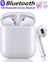 Bluetooth 5.0 Wireless Earbuds Headsets Bluetooth Headphones 3D Stereo IPX5 Waterproof Pop-ups Auto Pairing Fast Charging for Apple of airpods and Airpod Sports Earphone Samsung Wireless Earbuds