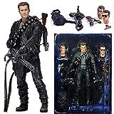 YSDSPTG Figure d'action Fate Sarah Connor Terminator 2 Figure Journal Day T-800 Arnold Schwarzenegger T-1000 Figurines de Collection (Color : A with Box, Size : 18cm)