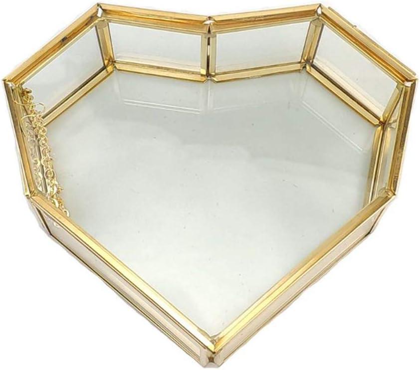 不适用 Gold Glass Price reduction Popular product Jewelry Box Handmade Small Heart-