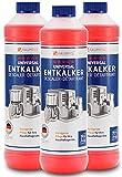 Descalcificador para cafetera 3x 750ml - máquina de café automatica compatible con marcas Delonghi, Jura, Nespresso Dolce Gusto, Senseo