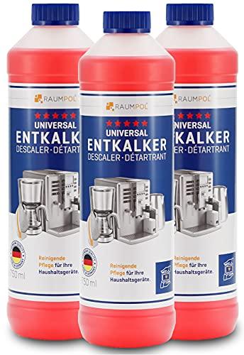Entkalker 3x 750ml für Kaffeevollautomat & Kaffeemaschine - kompatibel mit allen Herstellern I Kaffee-Maschine I Vollautomat I Kaffeepadmaschinen I Kaffeautomat I Kalklöser I Kalk-Reiniger