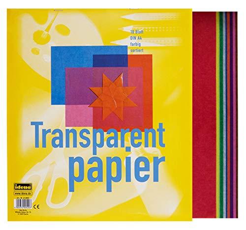 10 Blatt Transparentpapier A4 / 10 Farben