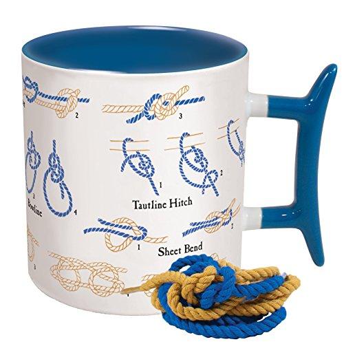 Blue and White UPG How To: Knots Coffee Mug