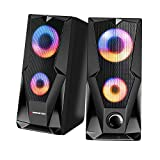 Best Monster Cable Subwoofer Cables - Monster Premium USB-Powered Stereo Speaker Set with Multi-Color Review
