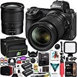 Nikon Z6II Mirrorless Camera Body + NIKKOR Z 24-70mm f/4 S Lens Kit 1663 FX-Format Full-Frame 4K UHD Bundle with Deco Gear Travel Bag Case + Extra Battery + LED + Filters + Software & Accessories