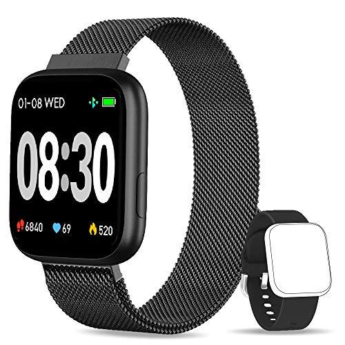 BANLVS Smartwatch, 1.4 Inch Reloj Inteligente IP67 con Pulsómetro Pre