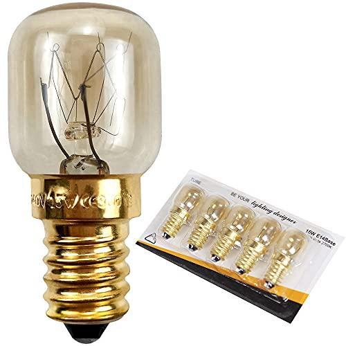 Bombilla de luz 5 cuábras de horno resistentes a 300 ° C lámpara de horno microondas lámpara de cristal de sal 220V E14 15W25W-1
