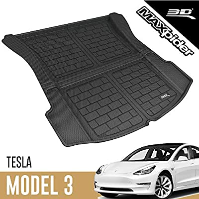 X AUTOHAUX Car TPE Rear Toolbox Mat Trunk Liner Mat Cargo Tray Boot Floor Pad Replacement for Tesla Model 3