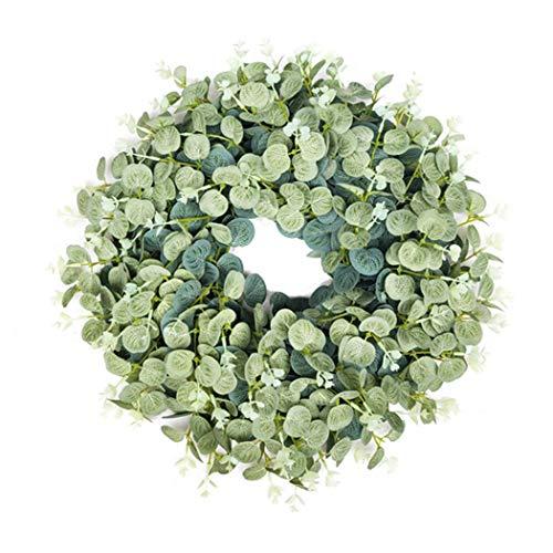 Türkranz,Kapmore Weihnachtskranz Kranz Weihnachten Weihnachtsdekoration 15,75 '' Künstlicher Kranz Lebensechter Eukalyptus Türkranz
