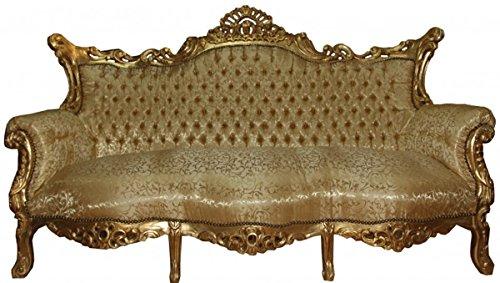 Barock Sofa 3er Master Gold Muster/Gold- Antik Möbel