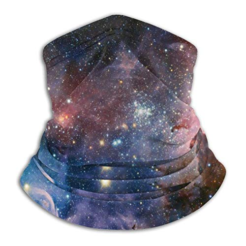 ShiHaiYunBai Tour de Cou Cagoule Microfibre Chapeaux Tube Masque Visage, Fleece Neck Warmer - Stars Neck Gaiter Tube, Bandana, Headband & Beanie