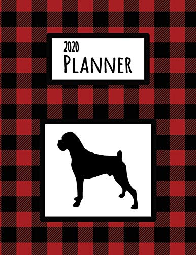 2020 Planner: Boxer Red and Black Buffalo Plaid Dated Daily, Weekly, Monthly Planner With Calendar, Goals, To-Do, Gratitude, Habit and Mood Trackers, Affirmations and Holidays