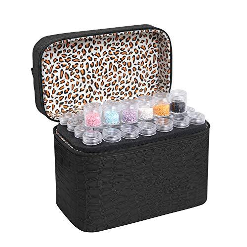 Decdeal 84 Slots Diamond Storage Box Diamond Embroidery Rhinestones Painting Accessory Jewelry Beads Organizer Carry Case Zipper Design