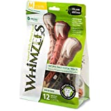 Whimzees 329966 Natural Toothbrush Star Assorted, 12pc/Medium/Net Wt 12.7oz.(360g)