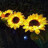 2Pack Solar Sunflower Light Led Solar Garden Lights Juego de luces Decoración de la casa Césped Luz impermeable Ourdoor Garden