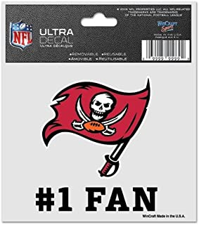 WinCraft NFL Tampa Bay Buccaneers 95632014 Multi-Use Decal, 3
