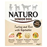 Brand Naturo Naturo Senior Turkey Rice And Vegetable Dog Food Tray 400G