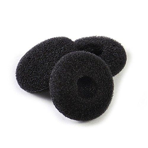 12 Paar (24 Stück) Schaumstoff Kopfhörer Ohrpolster Ersatz-Schwamm für Kopfhörer (schwarz)