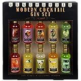 Modern Gourmet Foods, Miscele per Gin Cocktail Premium - Confezione Regalo, Set da 10 - 70 ml ciascuna. Aromi: Lime, Fiori di Sambuco, Fiori di Rosa, Mandarino e tanti altri. (Alcool non incluso).