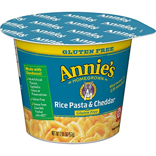 Annie's Gluten-Free Rice Pasta & Cheddar Microcup Macaroni & Cheese 2.01 oz. Cup