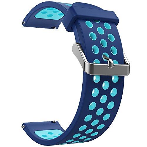 Emibele Cinturino, Cinturino Smartwatch da 20 mm in Silicone con 2 Pin...