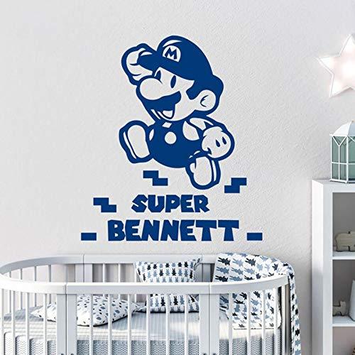 Super Mario pared calcomanía niño vinilo pared pegatina jardín de infantes sala de juegos decoración de dormitorio infantil
