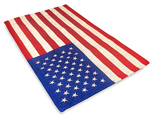 Tex family Alfombra de bandera americana antideslizante – 50 x 90 cm