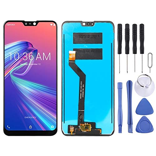 Liaoxig ASUS Spare LCD-Display und Digitizer Vollversammlung for Asus Zenfone Max Pro (M2) ZB631KL ASUS Spare (Farbe : Black)