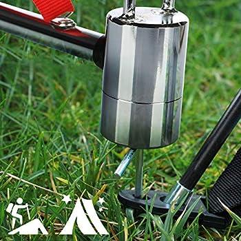 com-four® Marteau de Camping avec extracteur de Piquet - Marteau de Tente avec dragonne - Marteau de Piquet en Acier au Carbone, chromé - Accessoires de Camping (Acier Carbone)