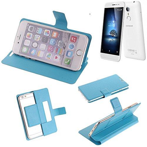 K-S-Trade® Flipcover Für Coolpad Torino S Schutz Hülle Schutzhülle Flip Cover Handy Case Smartphone Handyhülle Blau