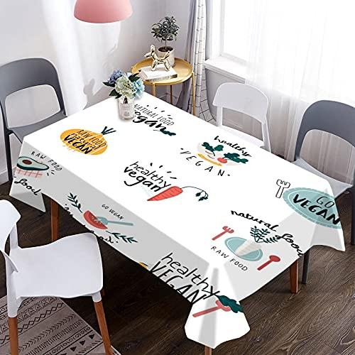 Mantel de Aguacate 3D, Mantel Decorativo Impermeable, Apto para Mantas de Picnic, cocinas, restaurantes, Fiestas M-1 140x180cm