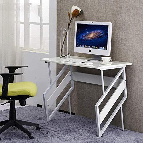 Mesa plegable para dormitorio, mesita de noche, mesa de trabajo, mesa pequeña, 900 x 550 x 755 mm, color blanco