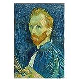 Reproducciones de pintura al óleo vintage del famoso Van Gogh Café, carteles y grabados nórdicos, cuadros en lienzo sin marco A3 60x90cm