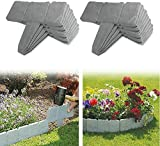 JYWJ Lot de 20 bordures de pelouse en pierre en palissade pour jardin, pelouse, bordure de jardin, pelouse, bordure pavée (5 m)