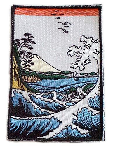 [Japan Import] 100% Embroidery Japan Patch Patches Hiroshige Utagawa Ukiyo-e A0418