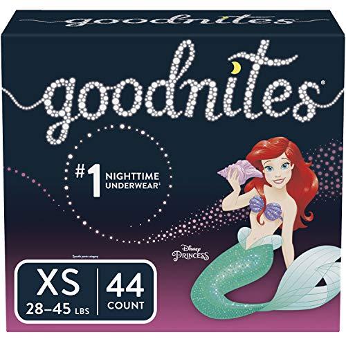 Goodnites Bedwetting Underwear for Girls, XS, 44 Ct, Discreet
