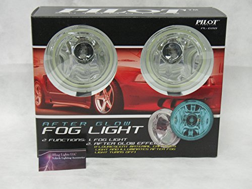 Universal 4' Round Blue Glow Halo Fog Lights Pair (Does Not Include Harness or Switch)