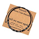💛 MEMORIAL GIFTS: Until we meet again 💛 EXCELLENT MEMORIAL BRACELETS: Every morse bracelets are made of material waxed nylon cord with Obsidian beads and Hematite beads. Hypoallergenic, never turn your wrists green. Classy look, substantial but light...