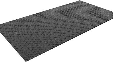 Mat Voor Fitnessapparatuur Multifunctionele Slijtvaste Loopbandmat 10 Mm Dikke Antislip Schokabsorberende Mat, 200x100cm, ...