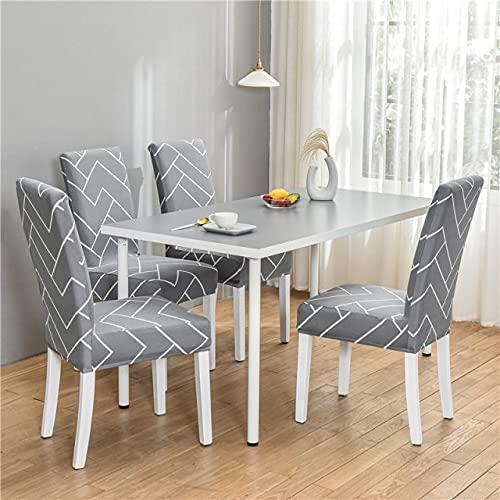 UKKO Coprisedie con Spandex Elastic Chair Slipcover Case Geometric Pranzo Sedia da Pranzo Copertina...