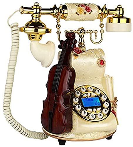 MUZIDP Clásico Europeo Retro teléfono Fijo dial rotatorio teléfono Vintage teléfono Fijo teléfono teléfono teléfono casa Sala de Estar Retro Fijo Fijo