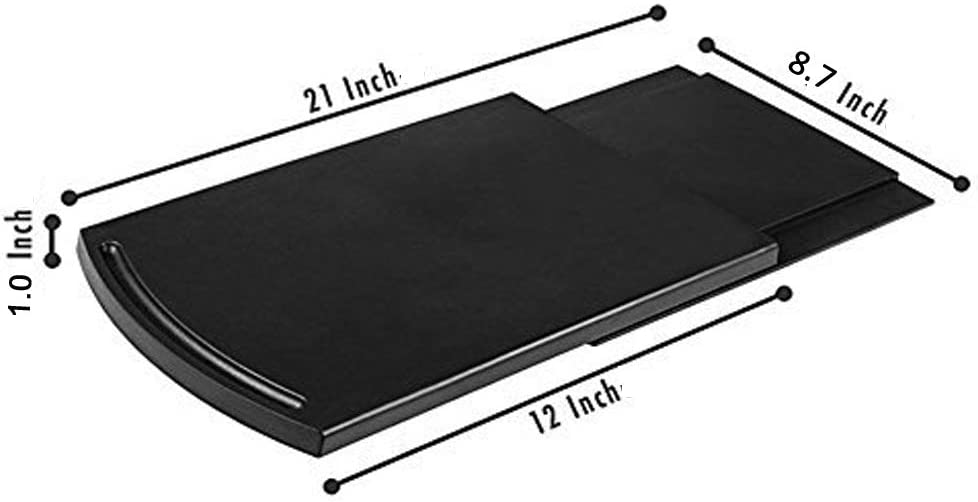 Multiuse Kitchen Caddy Sliding Coffee Maker Tray Mat,Countertop Storage for Blender Toaster Kitchen Appliances-12 Premium BPA Free Base Sliding Shelf with Smooth Rolling Wheels|2 Pack Black, 2
