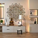 A Good Decals USA Wall Decal-Mandala Wall Art Decal for Indoor & Outdoor Use-Mandala Wall Sticker-Mandala Car Decal-Boho Mandala Wall Decor Home Studio Window-agdFMBK0102