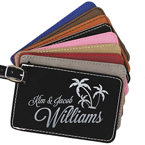 Custom Luggage Tag - Engraved Personalized Monogrammed Business and Traveler Gift